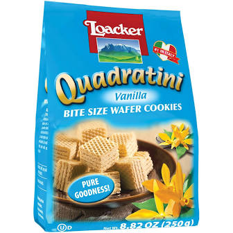 Loaker Quadratini Bite Size Vanilla Wafer Cookies 8.82 oz.
