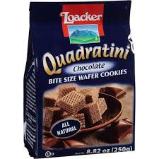 Loaker Quadratini Bite Size Chocolate Wafer Cookies 8.82 oz.