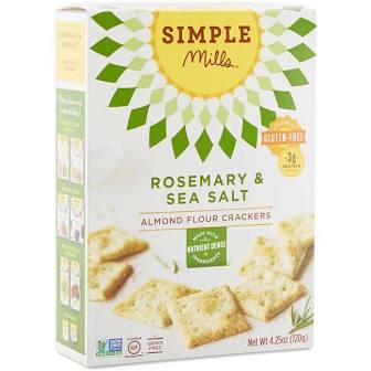 Simple Mills Almond Flour Rosemary & Sea Salt Crackers 4.25 oz.