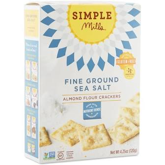 Simple Mills Almond Flour Sea Salt Crackers 4.25 oz.