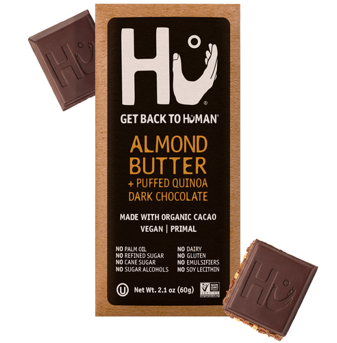 Hu Chocolate Almond Butter + Puffed Quinoa Dark Chocolate 2.1 oz