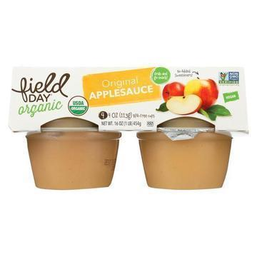 Field Day Apple sauce 4 oz 4 pk