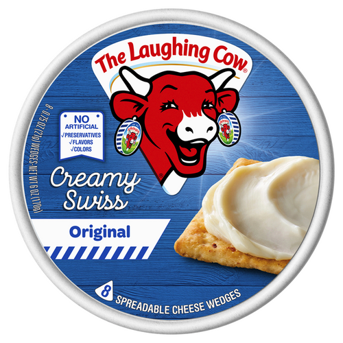 The Laughing Cow Spreadable Cheese Wedges Creamy Original 6 oz