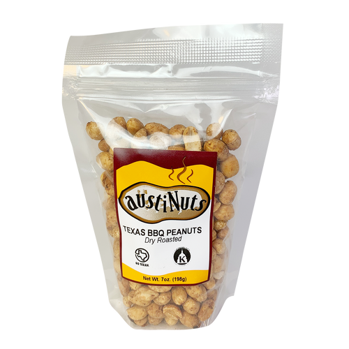 Austinuts Texas BBQ Peanuts Dry Roasted 7 oz