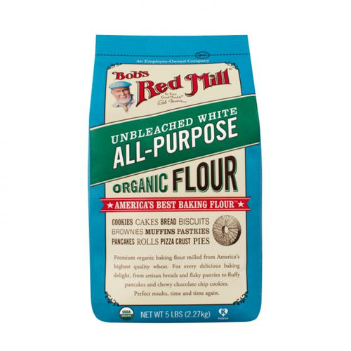 Bob's Red Mill Unbleached White All-Purpose Organic Flour 5 LBS