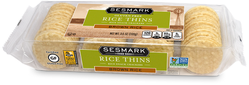 Sesmark Brown Rice Crackers 3.5 oz