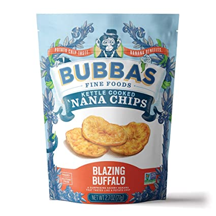 Bubba's Fine Foods Kettle Cooked 'Nana Chips Blazing Buffalo 2.7 oz