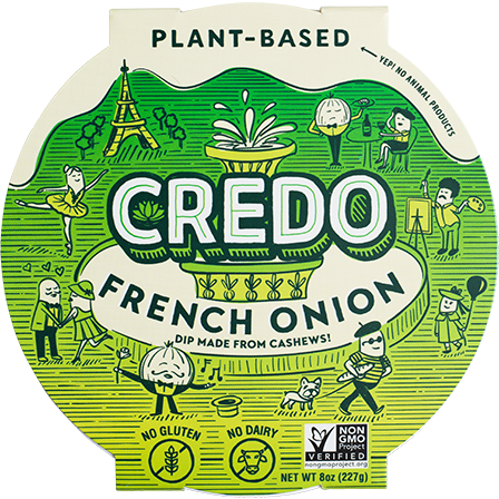 Credo French Onion Cashew Dip 8 oz