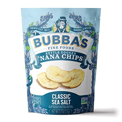 Bubba's Fine Foods Kettle Cooked 'Nana Chips Classic Sea Salt 2.7 oz