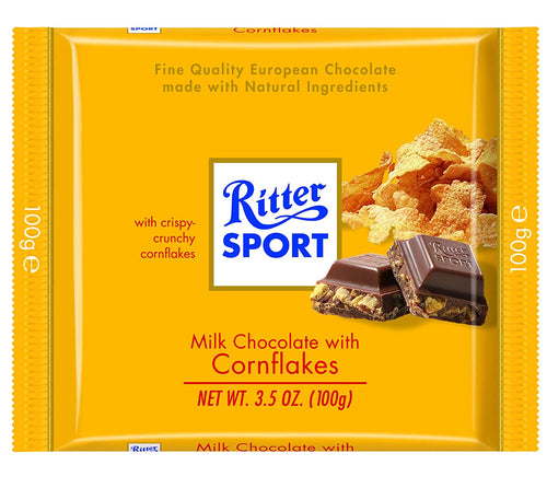 Ritter Sport Milk Chocolate with Cornflakes 3.5 oz