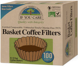If You Care Coffee Filters: Basket 100 ct