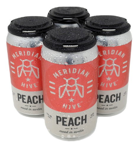 Meridian Hive Peach Cider 4-pack 12 oz cans