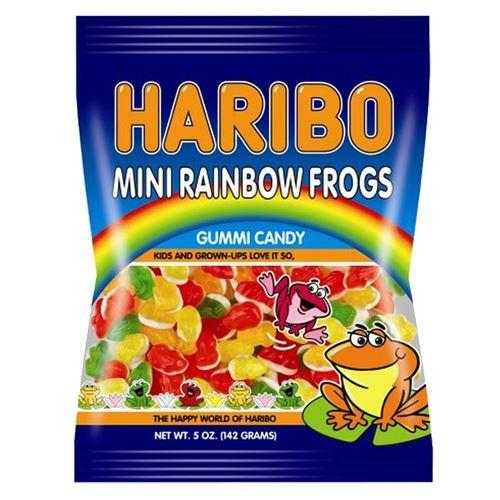 Haribo Mini Rainbow Frogs 5 oz