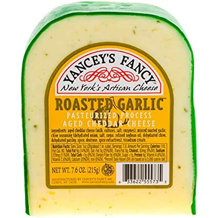 Yancey's Fancy Roasted Garlic Cheddar 7.6 oz