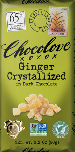 Chocolove Ginger Crystalized in Dark Chocolate 3 oz