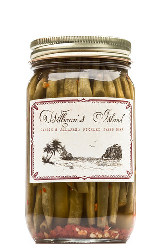 Willigan's Island Garlic Jalapeño Green Beans 16 oz