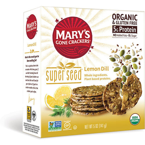 Mary's Gone Crackers Lemon Dill 5 oz