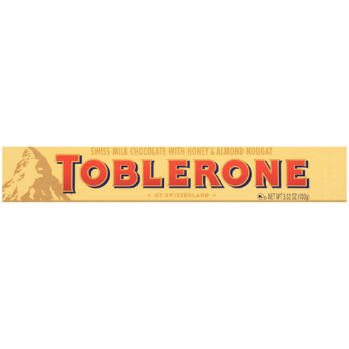Toblerone Milk Chocolate with Honey & Almond Nougat 3.52 oz