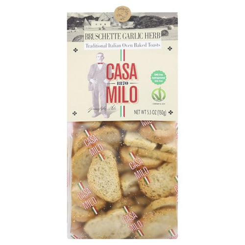 Casa Milo Bruschette Garlic Herb 5.3 oz