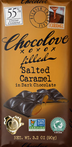 Chocolove Salted Caramel in Dark Chocolate 3 oz