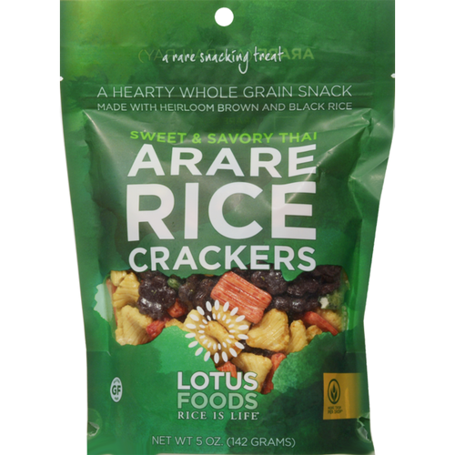 Lotus Foods Arare Rice Crackers Sweet & Savory Thai 5 oz