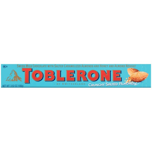 Toblerone Milk Chocolate with Caramelized Almonds, Honey & Almond Nougat 3.52 oz
