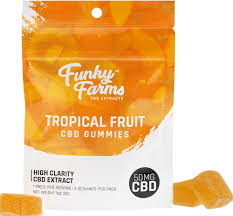 Funky Farms Tropical Gummies 50 mg CBD 5 ct