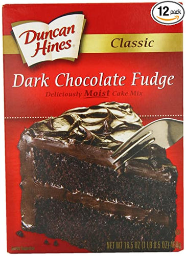 Duncan Hines Dark Chocolate Fudge Cake Mix 15.25 oz