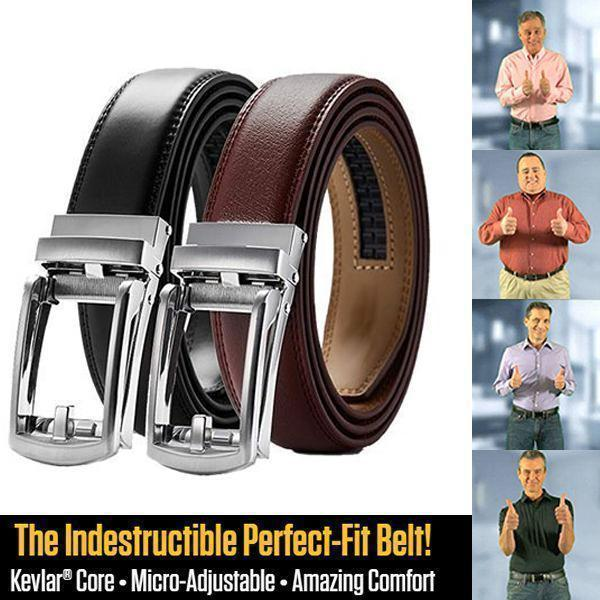 Highly Durable Genuine Leather Ratchet belt(Only $21.99 for 2 PCS )
