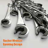 Any 2 Free Shipping SAE / MM Sizes Tubing Ratchet Wrench