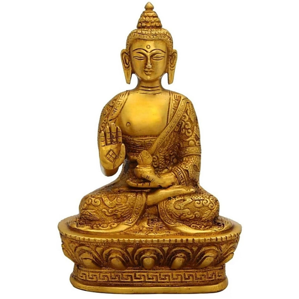 Antique Blessing Sitting Buddha Sculptures
