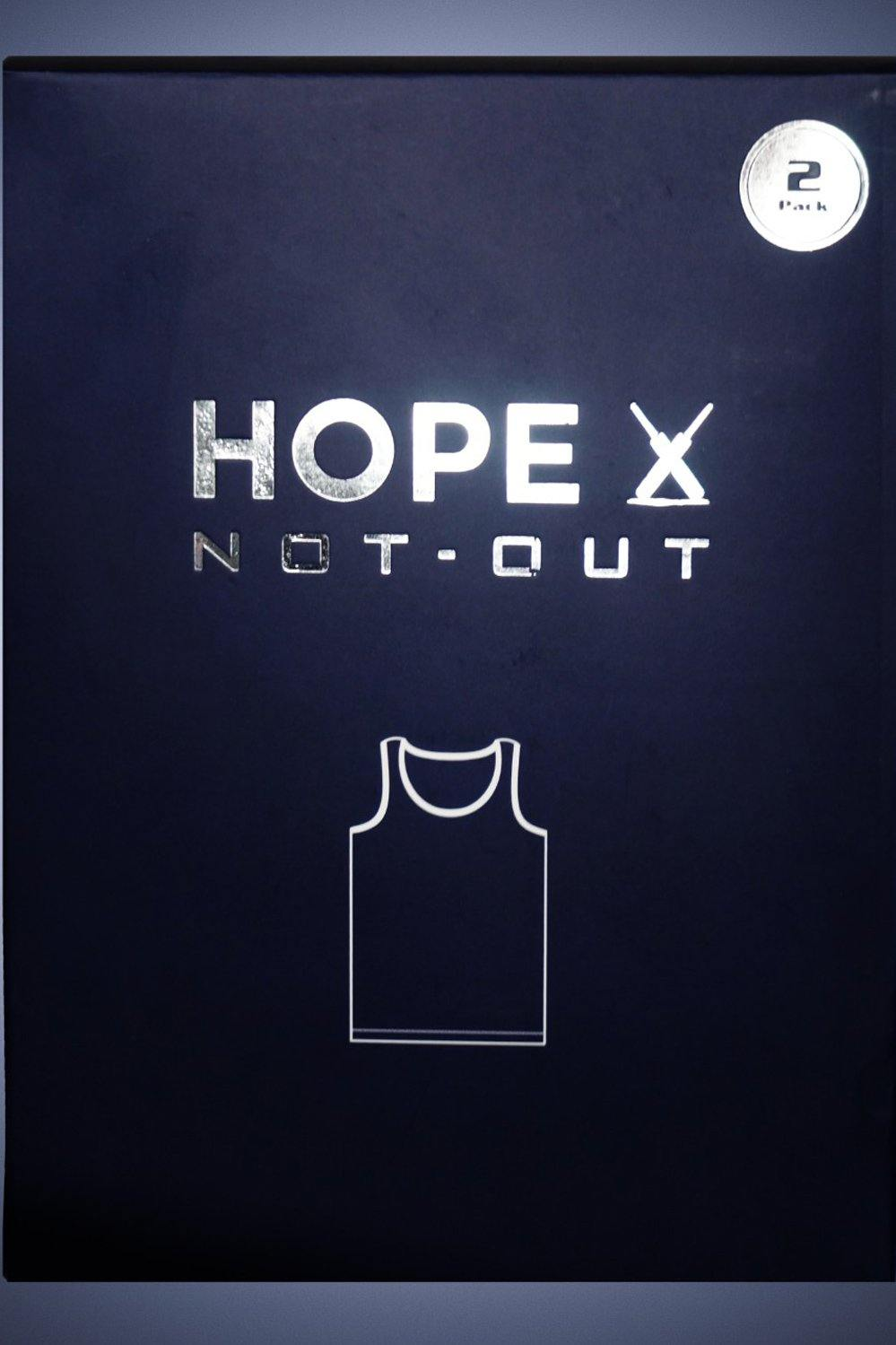 White Vest Pack of 2 HMUVF20001 - HOPE NOT OUT