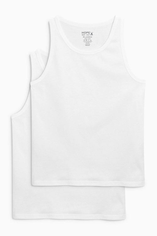 White Vest Pack of 2 HMUVF20001