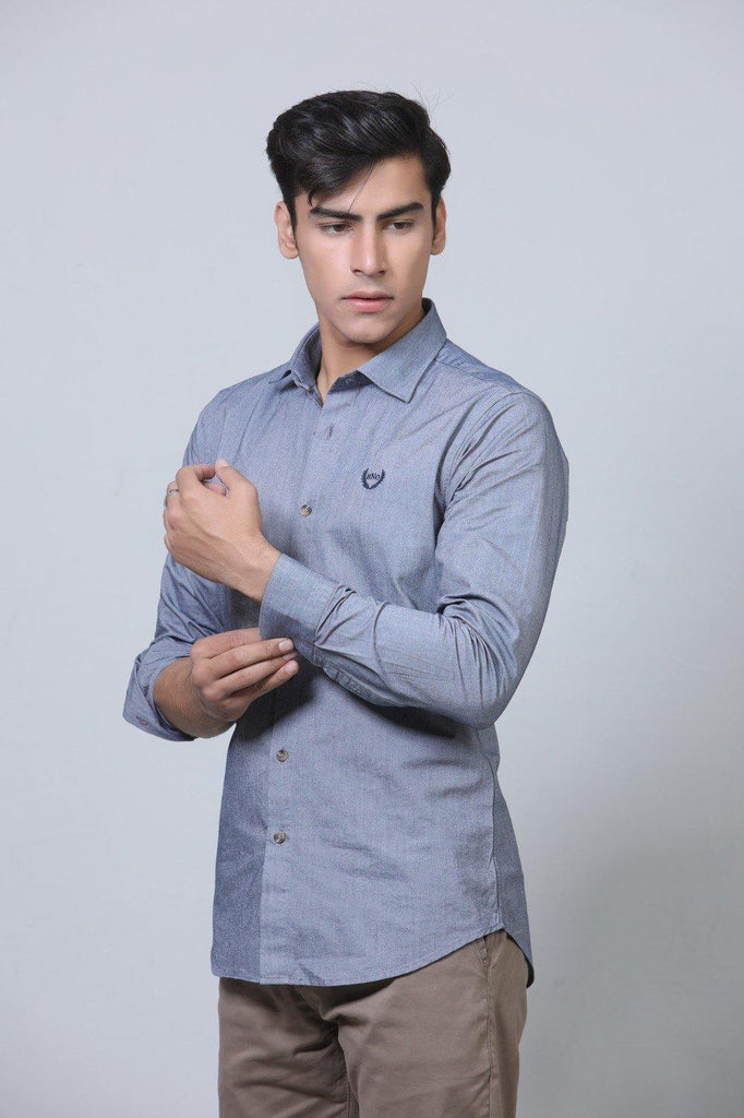 Grey Casual Shirt HMWSF20016