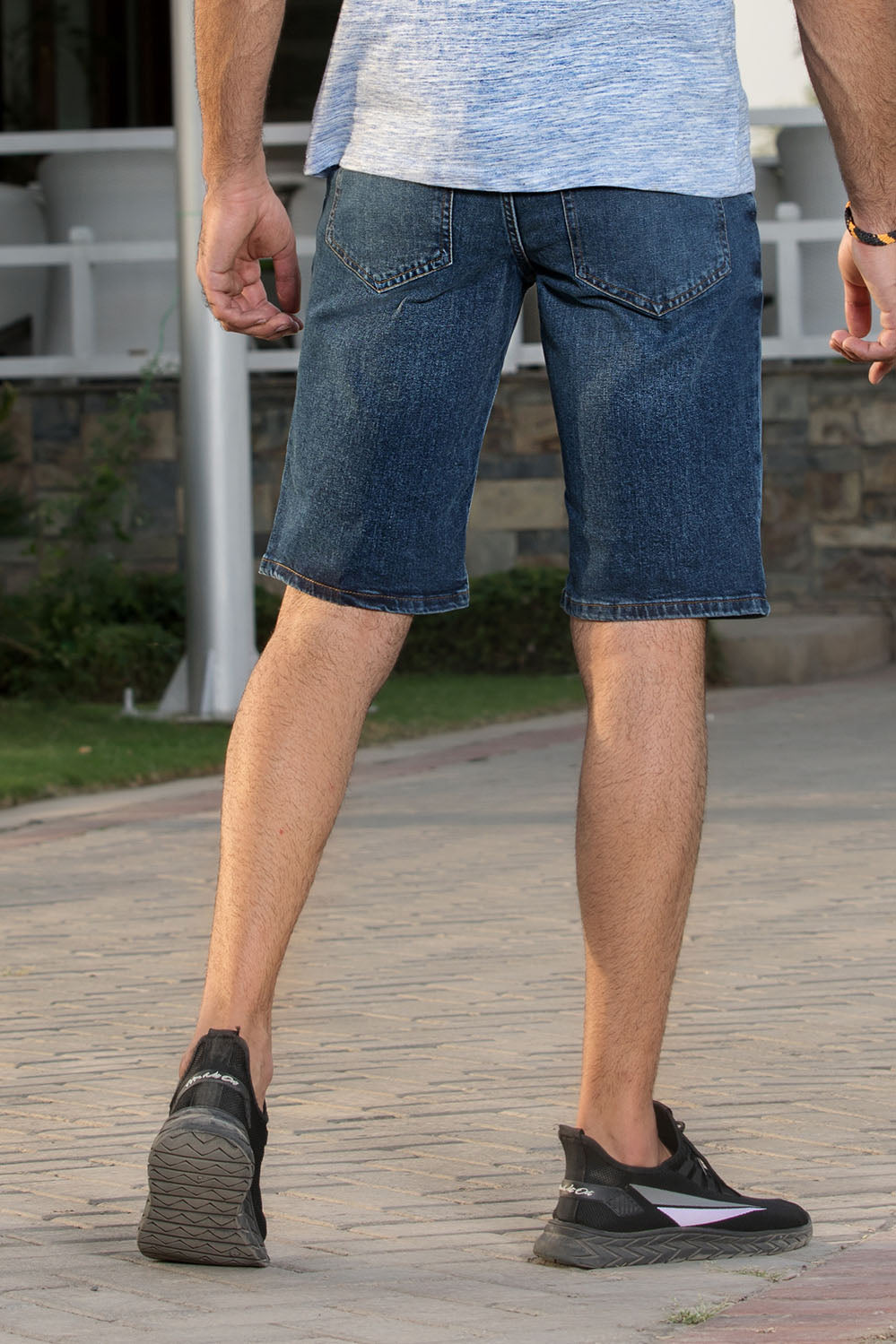 Slim Fit Blue Denim Shorts - HOPE NOT OUT