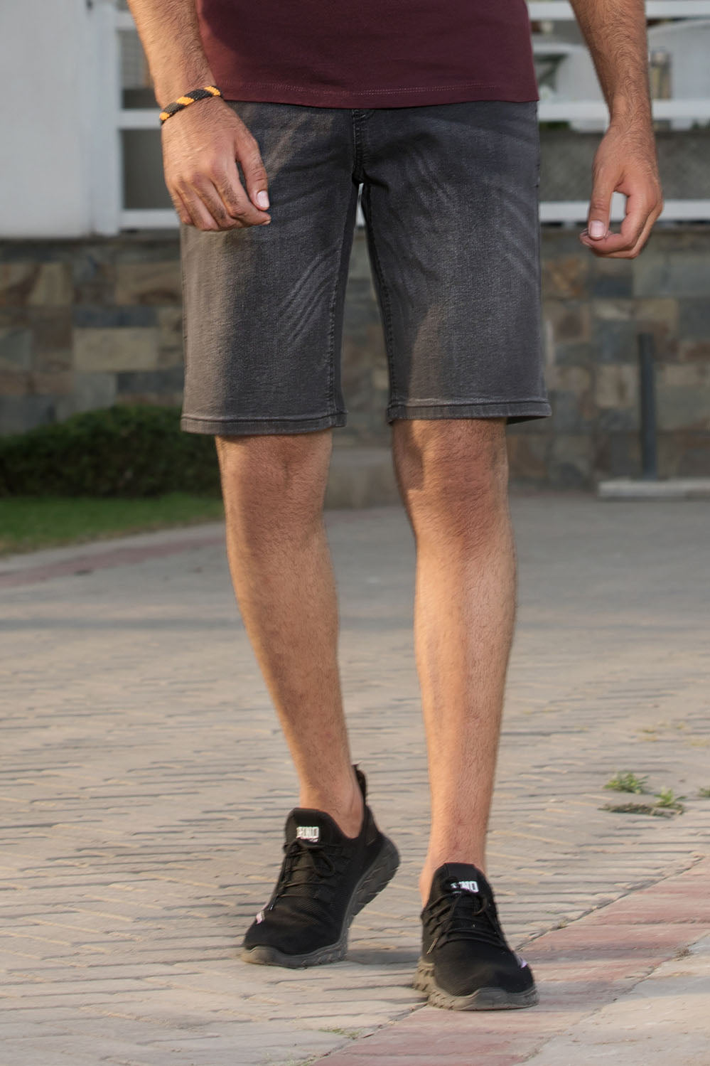 Slim Fit Grey Denim Shorts - HOPE NOT OUT