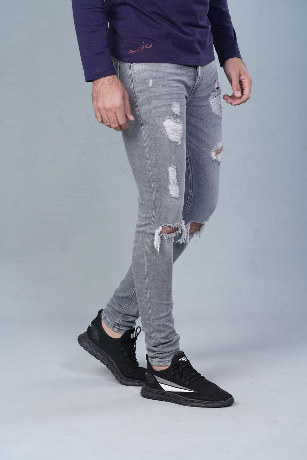 Grey Denim HMDBF20021 - HOPE NOT OUT
