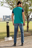 Slim Straight Fit Blue Denim with Stretch - HOPE NOT OUT