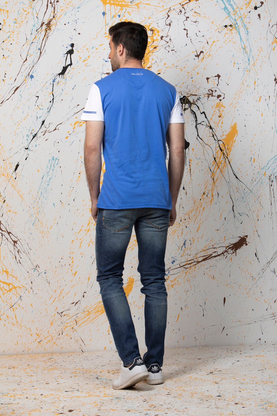 Blue T-Shirt HMKTS190035 - HOPE NOT OUT