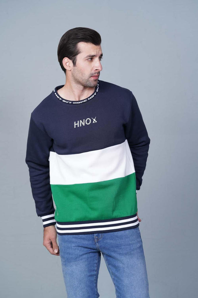 NAVY/GREEN/WHITE Sweatshirt HMSSF20208