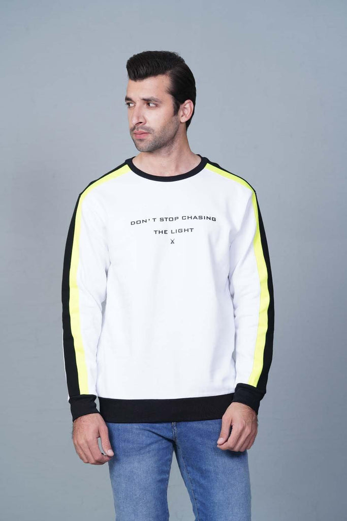 WHITE Sweatshirt HMSSF20209 - HOPE NOT OUT