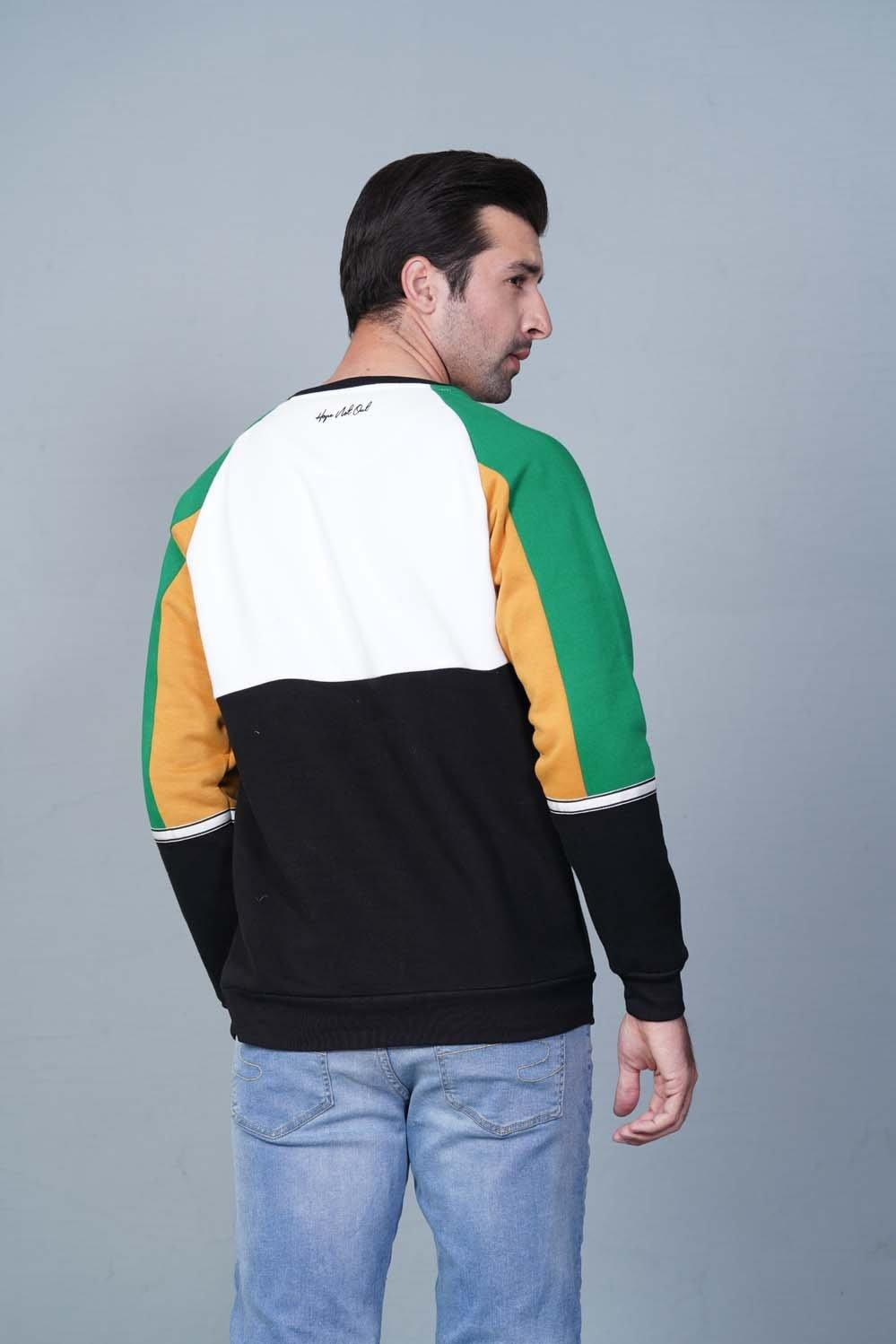 BLACK/GREEN/WHITE Sweatshirt HMSSF20210 - HOPE NOT OUT