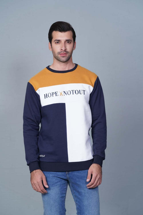 NAVY/YELLOW' Sweatshirt HMSSF20211