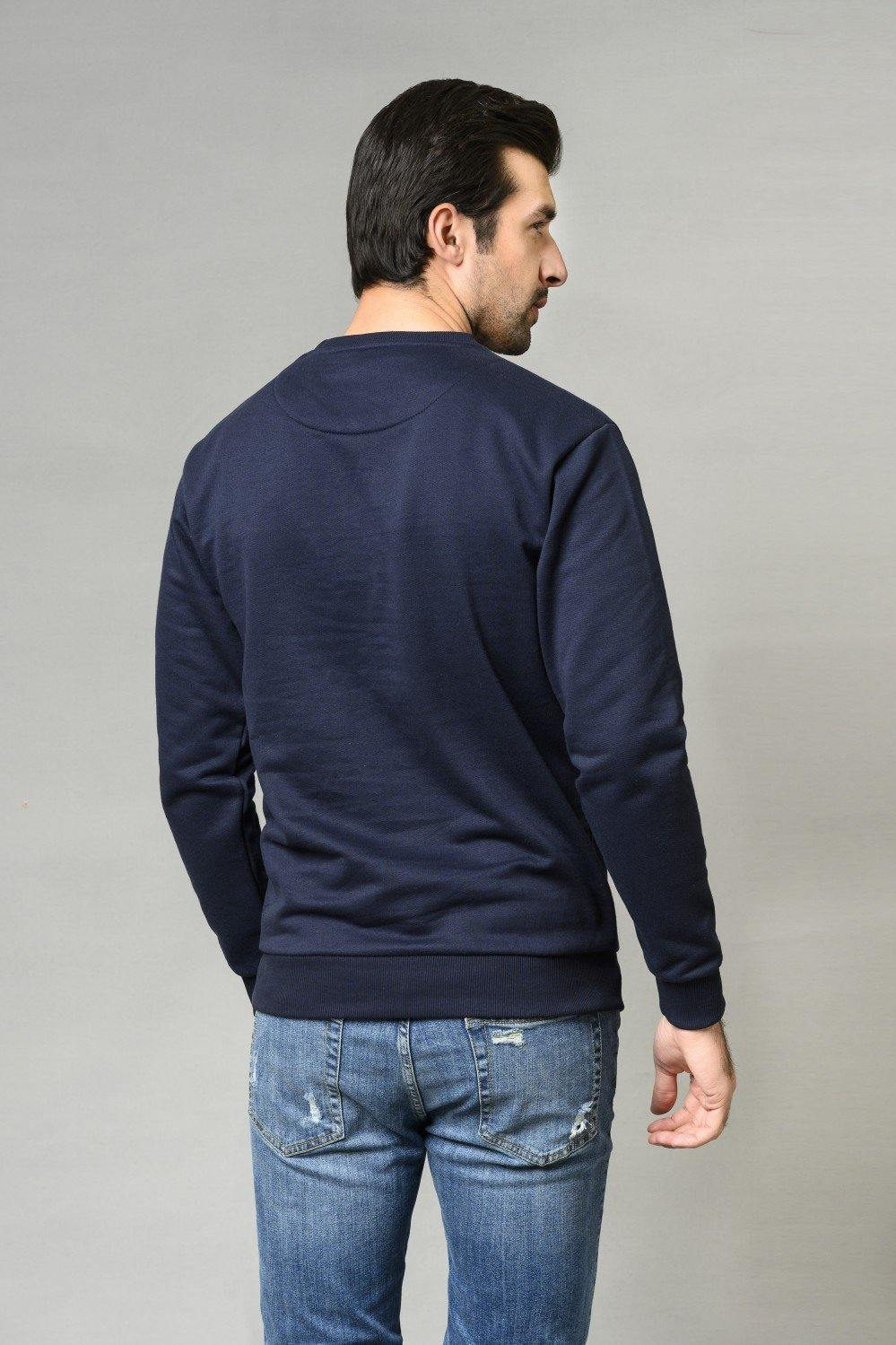 NAVY Sweat Shirt HMSSF20303 - HOPE NOT OUT