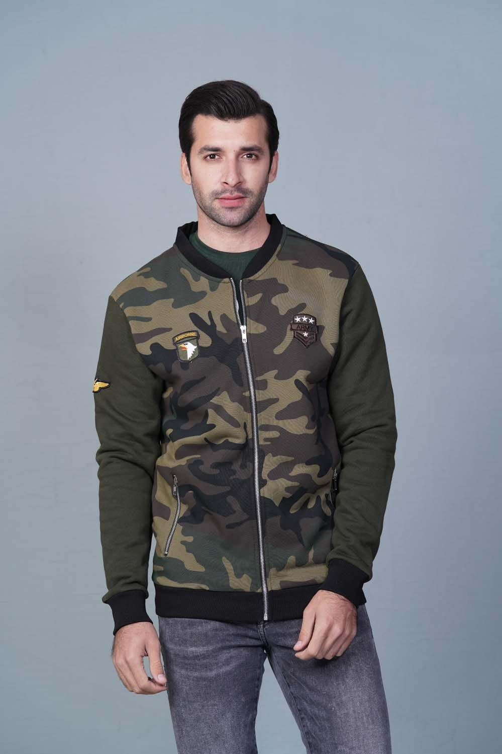 Green camo Varsity Jacket HMVSF20231 - HOPE NOT OUT