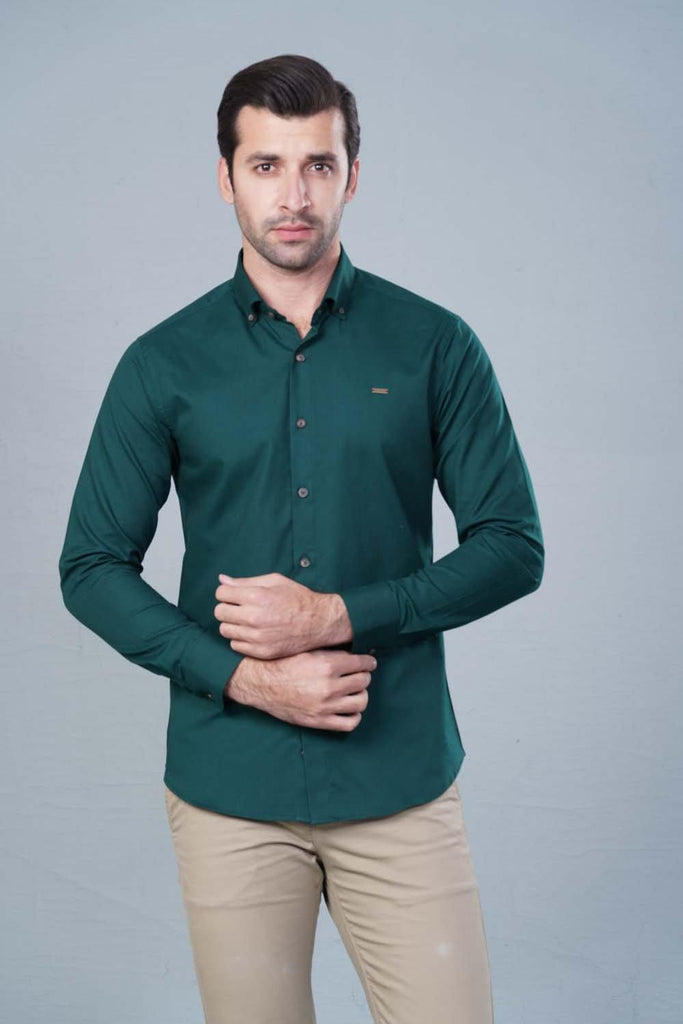 Green Casual shirt HMWSF20018 - HOPE NOT OUT