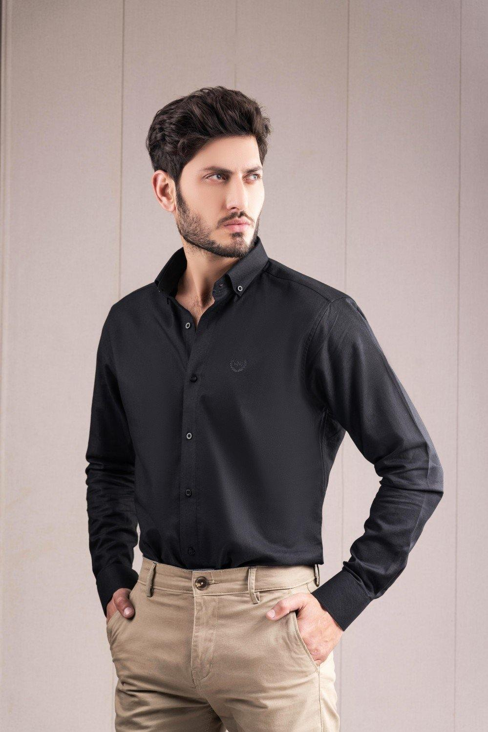 Black Casual Shirt HMWSS210006 - HOPE NOT OUT