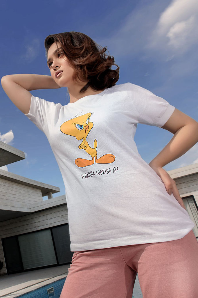 Tweety Graphic Tee - HOPE NOT OUT