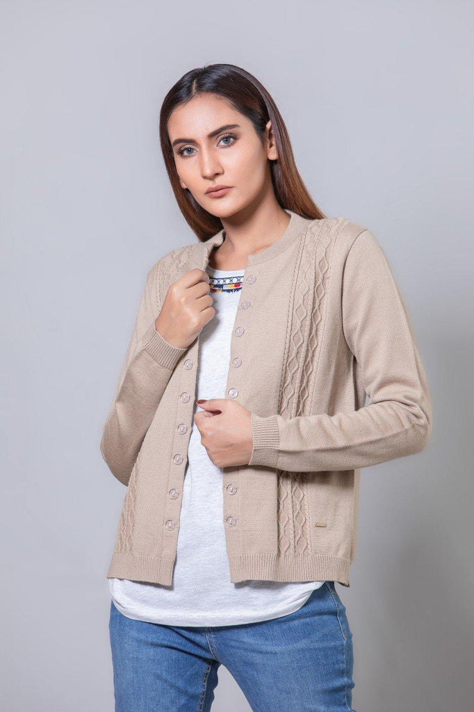 Beige Sweater HWSCF20001