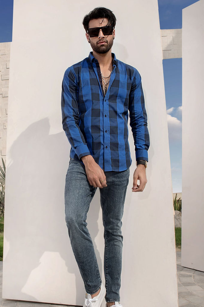 Checkered Classic Fit Shirt - HOPE NOT OUT